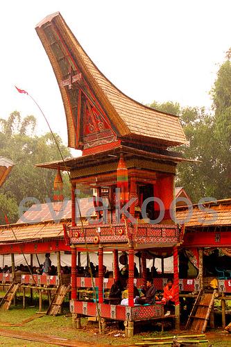 Tongkonan untuk upacara adat Rambu Solo'