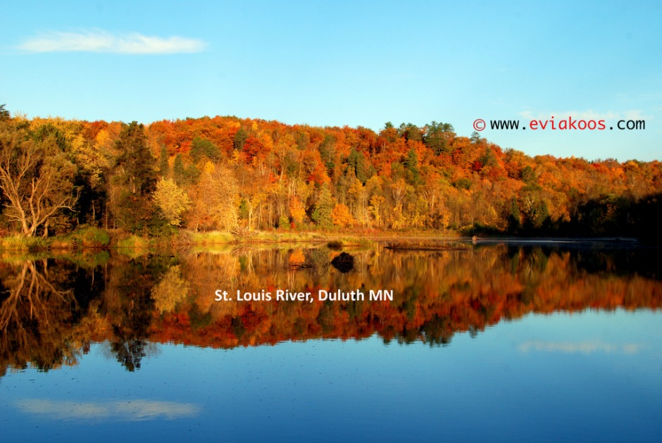 St. Louis river in autumn. October 13, 2013.
